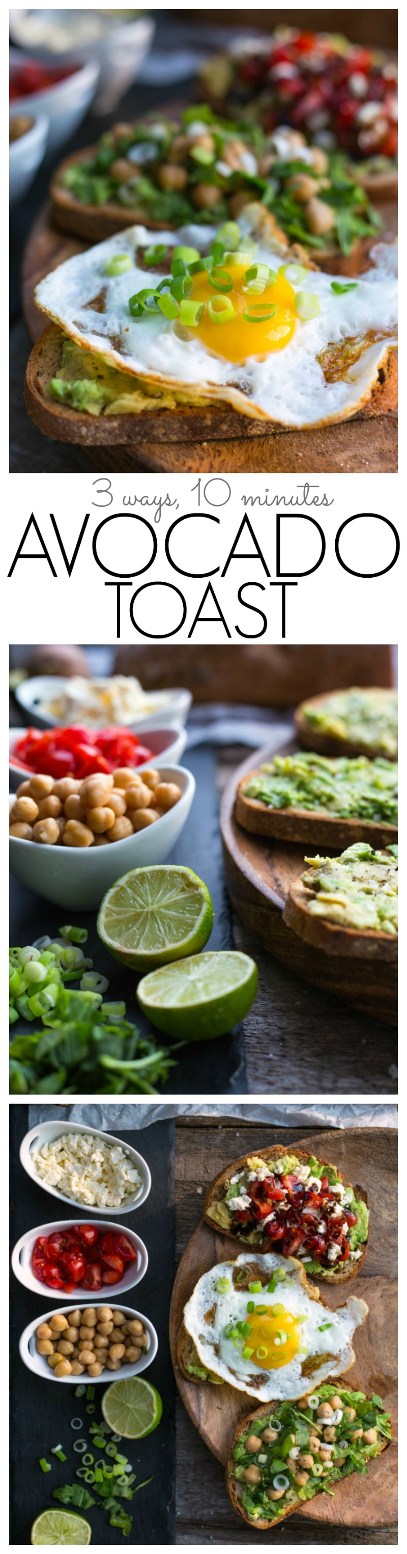 Short in time but still in need of a healthy meal? This Avocado Toast recipe is delicious and nutritious and includes 3 different options - Ready in 10 min!