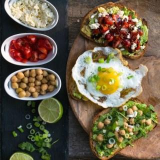 Avocado Toast: 10 Minutes – 3 Ways