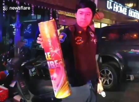 新年を祝うはずの花火が顔の近くで暴発し50歳のイギリス人男性が亡くなる。(タイ)