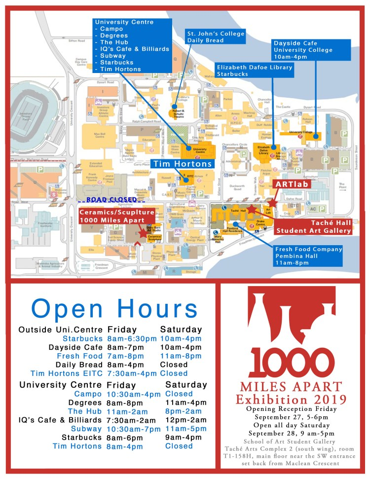 Map and schedule: where and when you can dine at the University of Manitoba Fort Garry campus