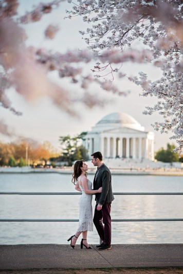 Tidal Basin Cherry Blossom Engagement Session-14