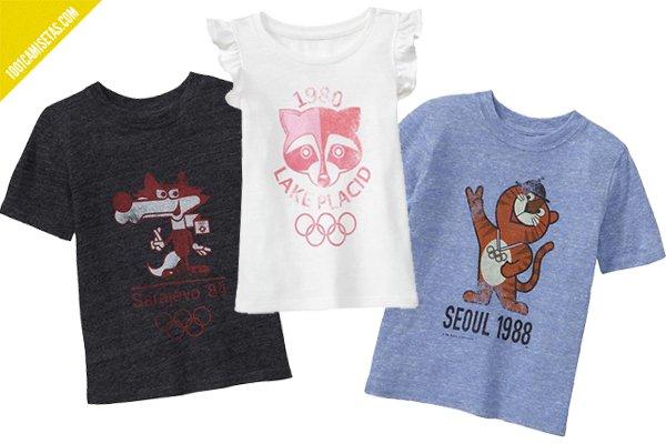 Camisetas vintage juegos olimpicos infantil