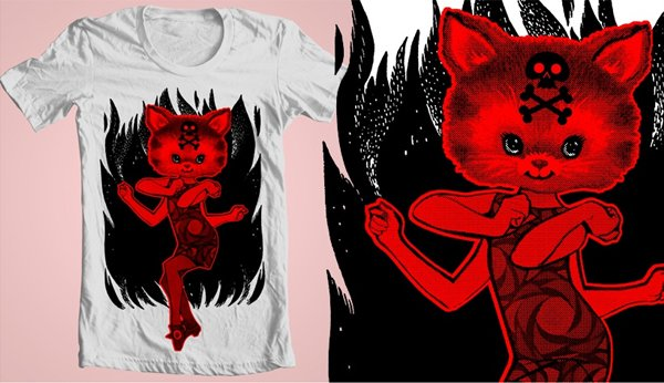 Concurso Threadless pretty ugly gato