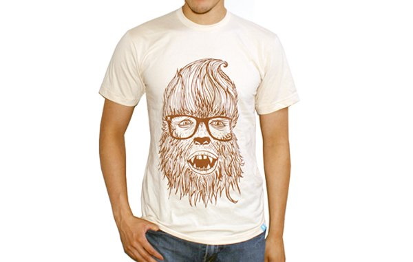 Camiseta hombre lobo hipster