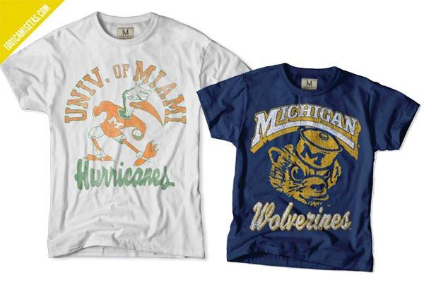 Camiseta universitaria