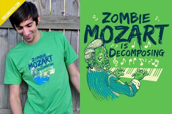 Camiseta zombie Mozart