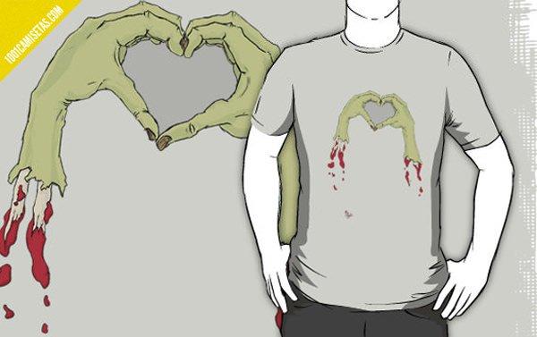 Camiseta zombies manos