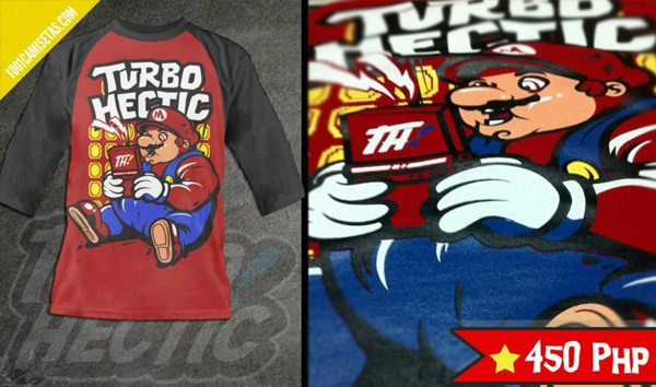 camiseta estampada turbohectic
