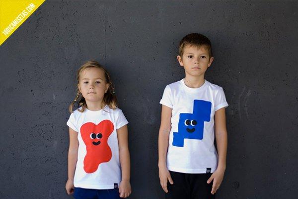Camisetas infantiles ladrillo