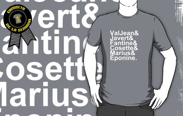 Camiseta de la semana Los miserables