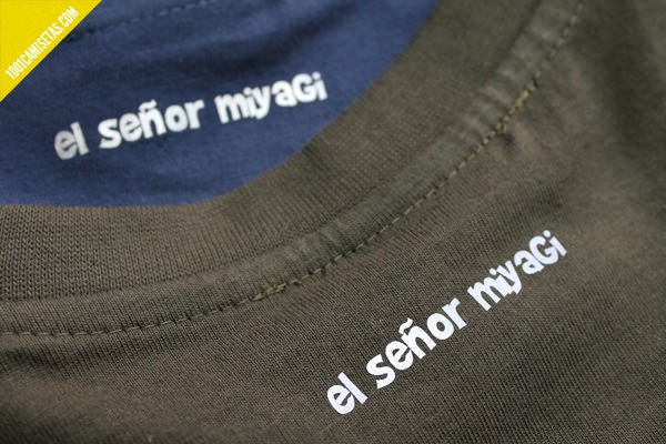Camisetas señor Miyagi vinilo