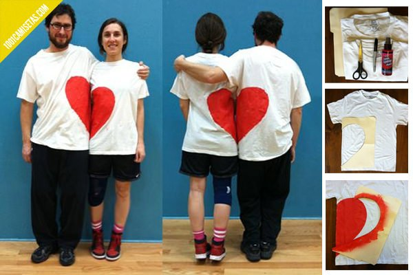 Camiseta DIY san valentin