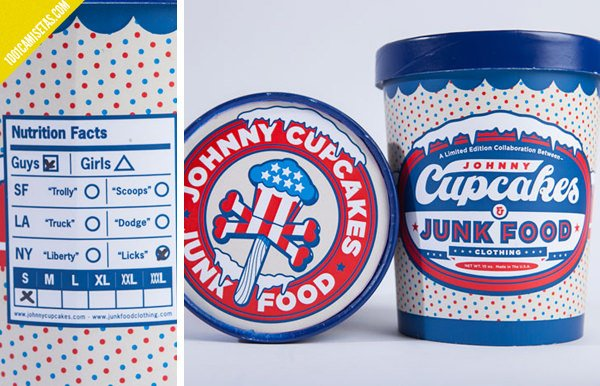 Helado packaging camisetas-jhonny-cupcakes