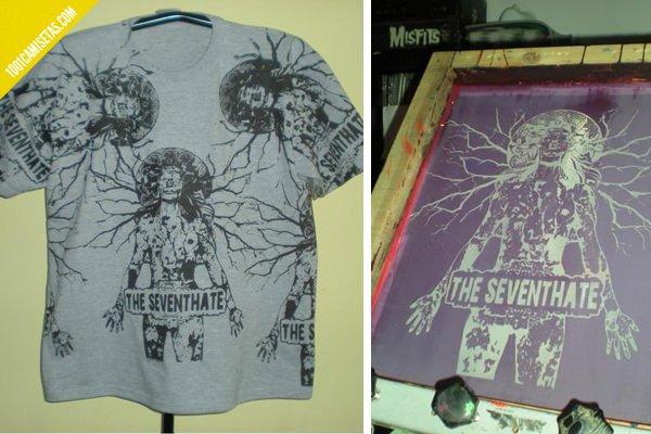 Camisetas serigrafia the seventhate
