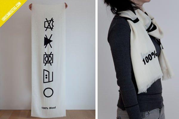 Bufanda etiqueta lavado