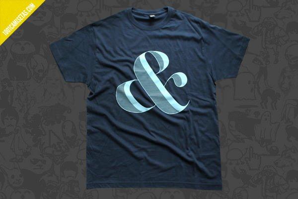Camiseta ampersand