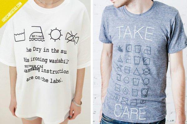 Camisetas instrucciones lavado