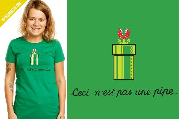 Camiseta Mario bros pipa