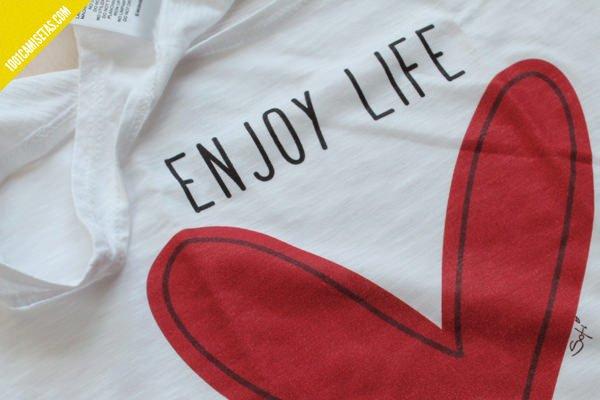Camisetas estampadas corazon