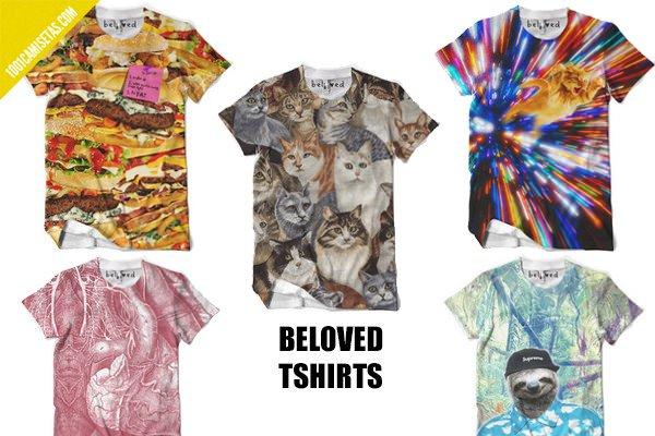 Camisetas full print beloved tshirts