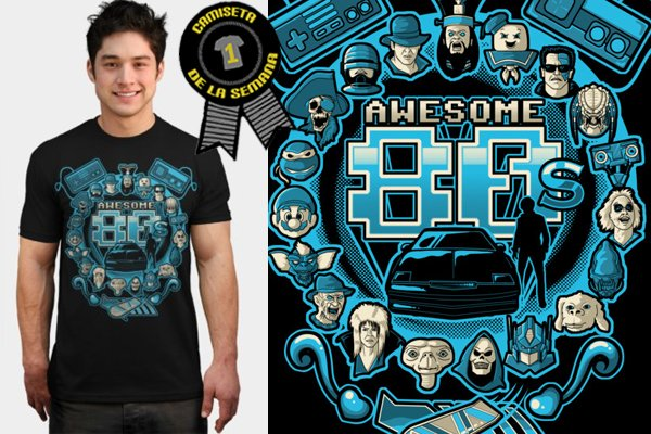 Camiseta de la semana Awesome 80's