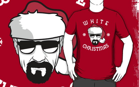 White christmas tshirt