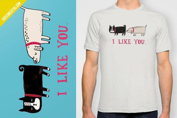 Camiseta I like you
