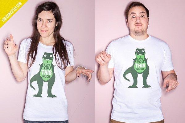 Camiseta san valentin trex