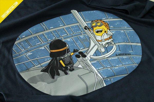 Camiseta divertida star wars-minions