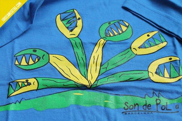 Camiseta planta carnivora