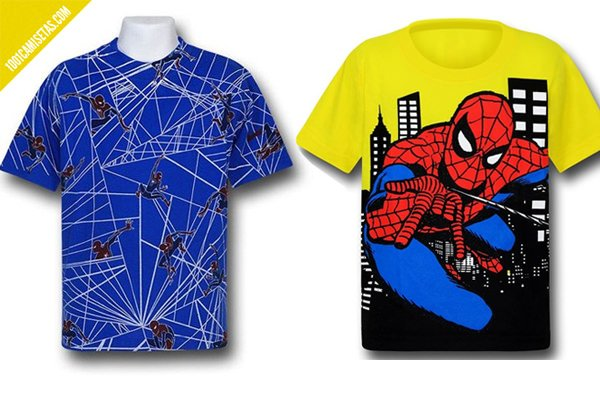 Camisetas spiderman infantiles