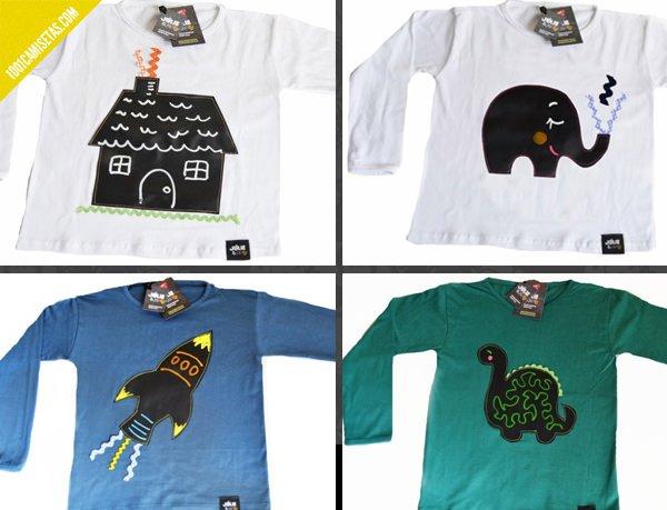 Camisetas con pizarra