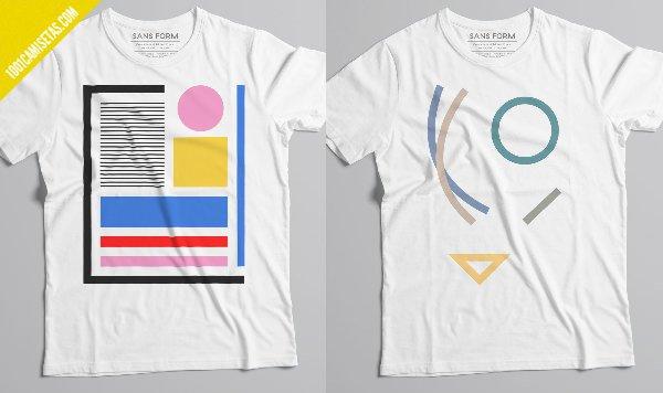 Camisetas graficas sans form