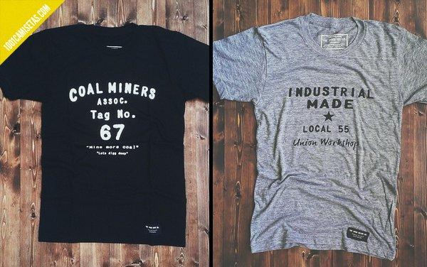 Camisetas tipograficas