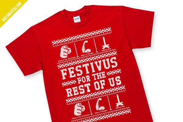 Camiseta navidad divertida