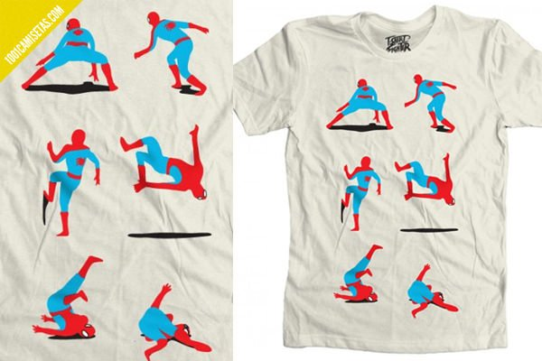 Camiseta divertida spiderman
