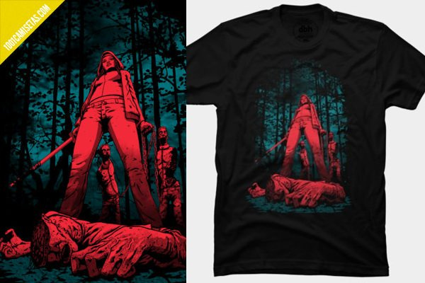 Camiseta walking dead michonne