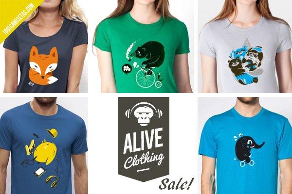 Camisetas ilustradas alive clothing