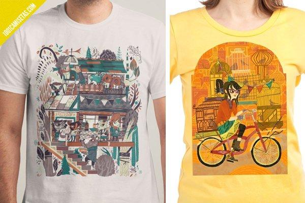 Camisetas ilustradas