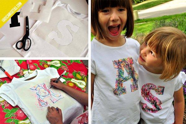 Camisetas pintadas para ninos