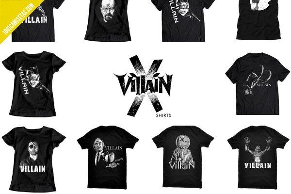 Camisetas villanos