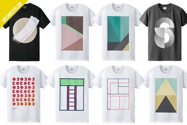 Camiseta geométrica
