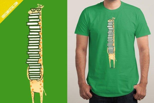 camiseta libros jirafa