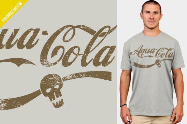 Camiseta aqua-cola