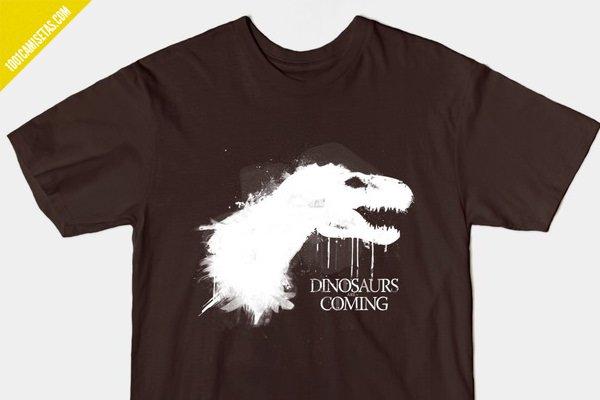 Camiseta Game of Thones dinosaurios