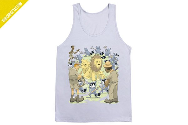 Camiseta tank top raccoon