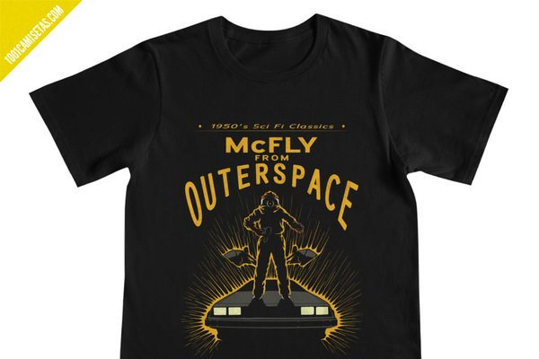 Camiseta delorean marty mcfly