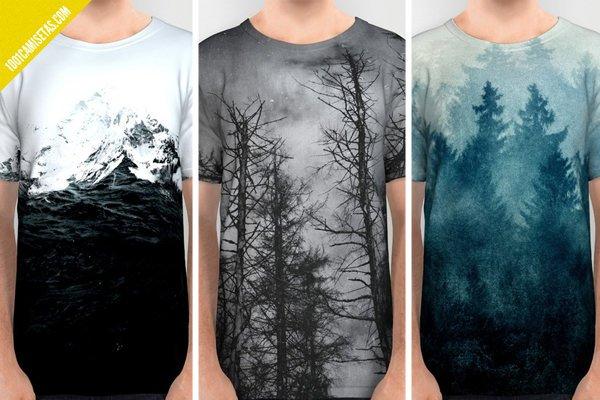 Camisetas full print paisajes
