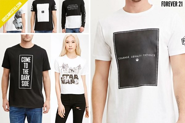 Camisetas star wars forever21