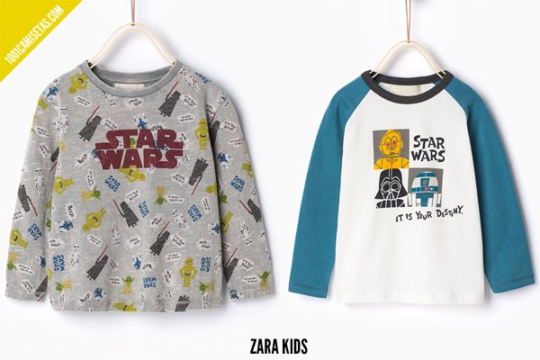Camisetas star wars zara kids